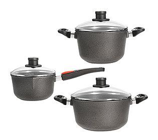 3 Kochtöpfe mit Deckel