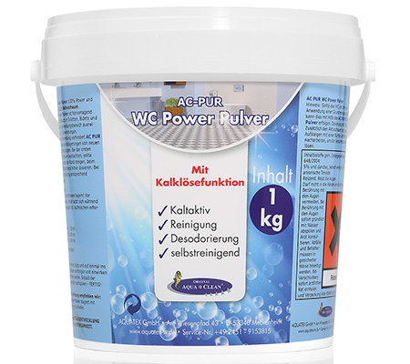 AQUA CLEAN PUR WC Power Pulver Kalklösefunktion kaltaktiv 1kg