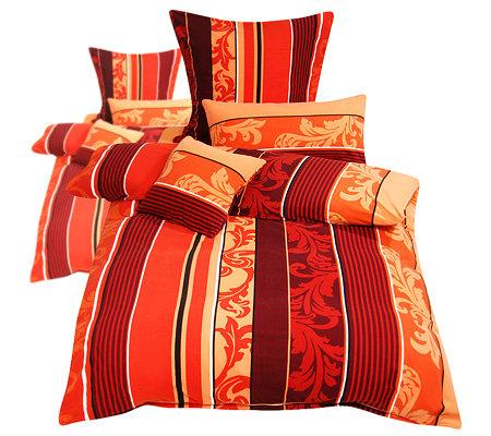 winterengel mf edelflanell bettw sche oranamente streifen doppelbett 10 tlg. Black Bedroom Furniture Sets. Home Design Ideas