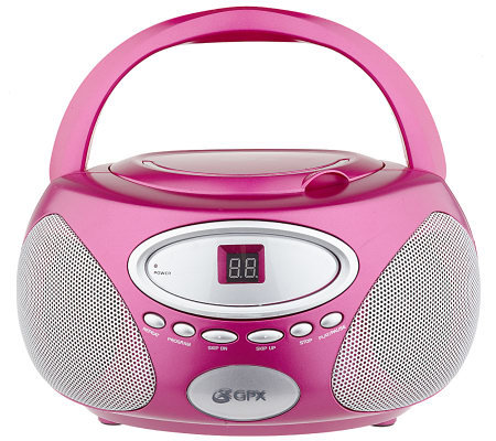 gpx boombox with cd player am fm radio speakers. Black Bedroom Furniture Sets. Home Design Ideas