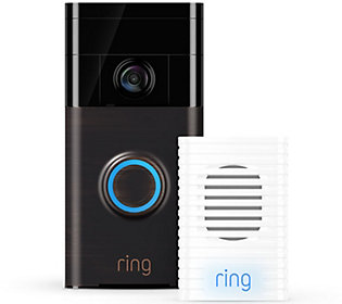 Ring Video Doorbell Two-Way Audio, HD Surveillance & Chime