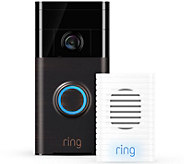 Ring Video Doorbell Two-Way Audio, HD Surveillance & Chime - E230400