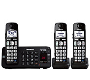Panasonic Expandable Digital Answering System w/ Three Phones - E277200