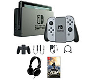Nintendo Switch with Zelda: Breath of the Wild& Headphones - E291200