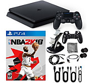PlayStation 4 1TB Slim Console with NBA 2K18 &Accessories - E292400