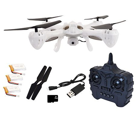 Hoverway Alpha Translucent Camera Drone, Auto Hover, 8GB Storage, Extras