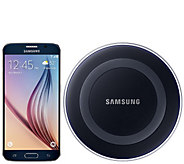 Samsung Galaxy S6 Unlocked Android Phone w/ Wireless Charging Pad - E229101