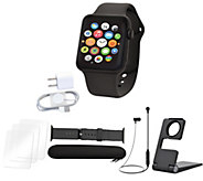 Apple Watch Series 3 GPS 38mm or 42mm w/ Nylon Band & Accessories - E231601