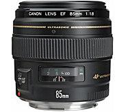 Canon EF 85mm f/1.8 USM Telephoto Lens - Cano nSLR Cameras - E256801