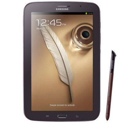 "Samsung 8"" 16GB Galaxy Note Tablet with S Pen -Brown/Black"