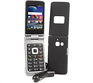 TracFone ZTE Cymbal T LTE Flip Phone with 1 Year Service & Accessories - E230502