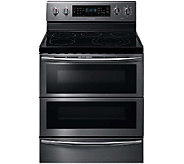 Samsung 5.9 Cu. Ft. Flex Duo Electric Range - Black Stainless - E285902