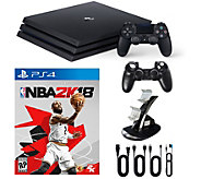 PlayStation 4 1TB Pro Console with NBA 2K18 andAccessories - E292402