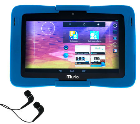 "Kurio 7S 7"" 8GB Kid's Tablet w/ Earbuds & 3-pack Screen Protectors"