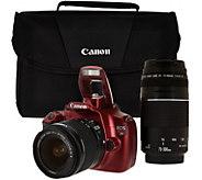 Ships 5/5/16 Canon Rebel T5 18MP DSLR Camera w/ 18-55 & 75-300mm - E229403