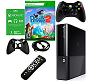 Xbox 360 E 4GB Bundle with Peggle 2 and Accessories - E288803
