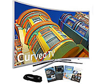 Samsung 78 Curved Smart 4K SUHDTV with HDMI Cable & App Pack - E289003
