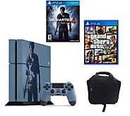 PlayStation 4 500GB Uncharted Limited Edition Bundle w/ GTA - E291503