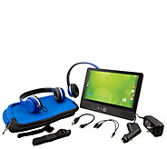Zeki 9 Quad Core Tablet & DVD Player Travel Pack - E231404