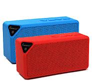 Impecca Set of 2 Portable Bluetooth Speaker Bundle - E283904
