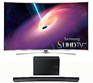 Samsung 65 LED 4K SUHD Curved Smart TV w/ Curved Sound Bar - E287204
