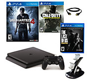 Sony PS4 Slim 500GB Uncharted Bundle with Callof Duty & More - E290204