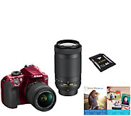 Nikon D3400 Dual Lens DSLR Camera Kit - 18-55mm& 70-300mm - E290804