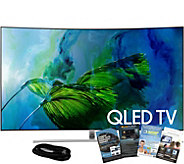 Samsung 65 QLED Curved 4K HDR Elite Smart UHDTV w/ App Pack - E291104