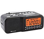 7-Channel Desktop Alarm Clock w/ AM/FM Radio - E214205
