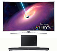 Samsung 65 LED 4K SUHD Curved Smart TV w/Built-in WiFi & Mor - E287206