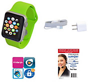 Apple Watch Sport 38MM with 2 Yr Premier Tech Support & Software Suite - E228007