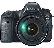 Canon EOS 6D 20.2MP DSLR Camera w/ EF 24-105m mLens - E271907