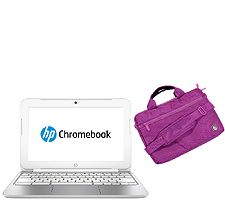 HP 11 Chromebook - 2GB RAM, 16GB SSD with Case