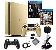 Sony PlayStation 4 Slim 1TB Gold Limited Edition with 2 Games - E291507