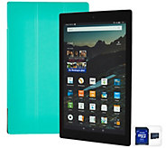 Amazon Fire HD 10 Quad Core 32GB Tablet w/ Fitted Case & 32GB SD Card - E228408
