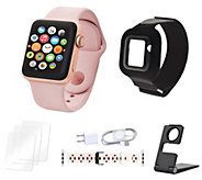 Apple Watch Series 3 38mm Sport Bundle w/ Extra Band & Accessories - E231808