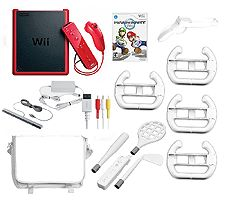 Cheap Video Games Stores Wii Mini Console with Mario Kart Game & Accessory Starter Kit