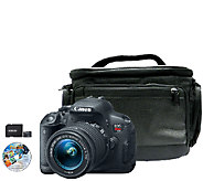 Canon EOS Rebel T5i 18 MP DSLR Camera, Lens, Case & Software - E281208