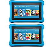 Amazon Set of 2 Kids 7 Tablets 8GB Wi-Fi with Bumper,Software & 2YR Warranty - E229510
