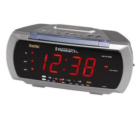 emerson smartset dual alarm clock radio page 1. Black Bedroom Furniture Sets. Home Design Ideas