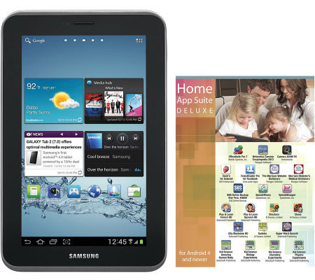 "Samsung 7"" Galaxy 8GB Android Tablet w/ Bonus Deluxe App Suite"