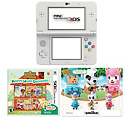New Nintendo 3DS Animal Crossing Bundle with amiibo 3-Pack - E287010