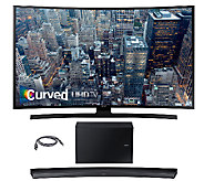 Samsung 65 LED 4K UHD Curved Smart TV w/ Curved Sound Bar - E287210