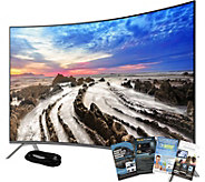 Samsung 55 LED Curved 4K HDR Pro Smart TV w/ HDMI & App Pack - E291110
