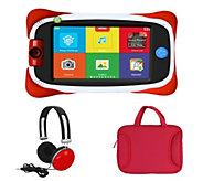 nabi Jr 5 Kids Android Tablet DropSafe Bumper Headphones & Carrying Case - E229511