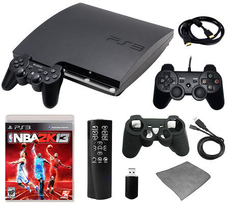 PS3 Slim 160GB NBA 2K13 Bundle with Accessories