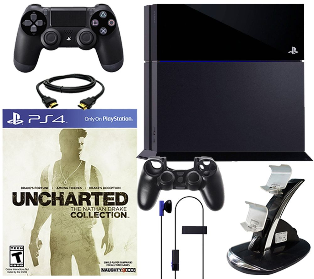 Sony PS4 500GB Uncharted Collection Bundle w/ Accessory Pack - E286111