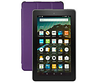Amazon Fire 8GB Tablet w/ Alexa Voice Assistant Folio Case and Voucher Bundle - E230712