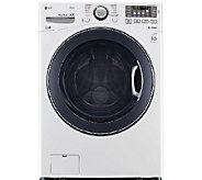 LG 4.5 Ultra-Capacity Front-Loading TurboWashWasher - White - E285712