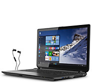 Toshiba 15 Win 10 Laptop - AMD A8, 6GB, 500GBHDD w/ Earbuds - E284913